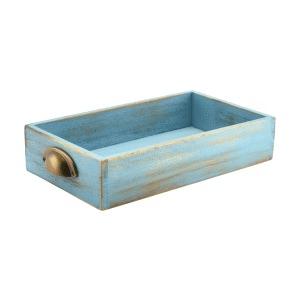 Blue Wash Acacia Wood Display Drawers GN 1/3