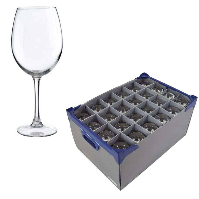 Pinot Wine Glasses 12.3oz and Glassjacks wine glass storage boxes