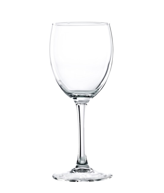 Tempered Wine Glasses Merlot 31cl / 10.9oz, Set of 24 with Storage Crate & Lid