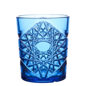 Blue Plastic Glasses Rocks Glass 35cl / 11.8oz - Pack of 6