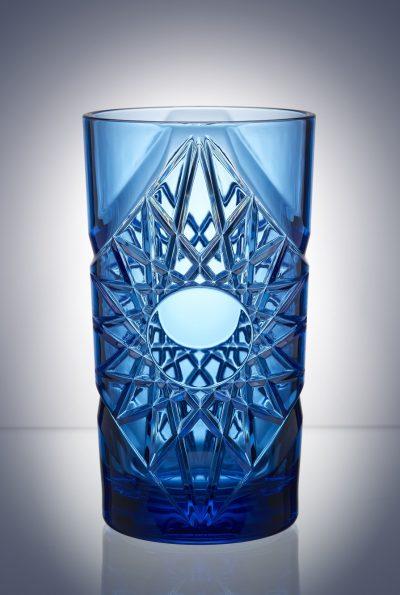 Blue Vintage Cocktail Plastic Glasses