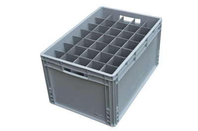 Champagne Flute Glass Storage Crate