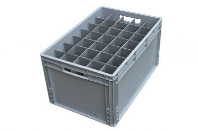 Champagne Flute Glass Storage Crate