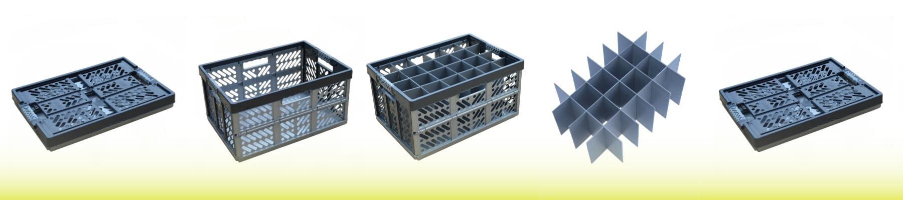 Folding Glass Storage Crate