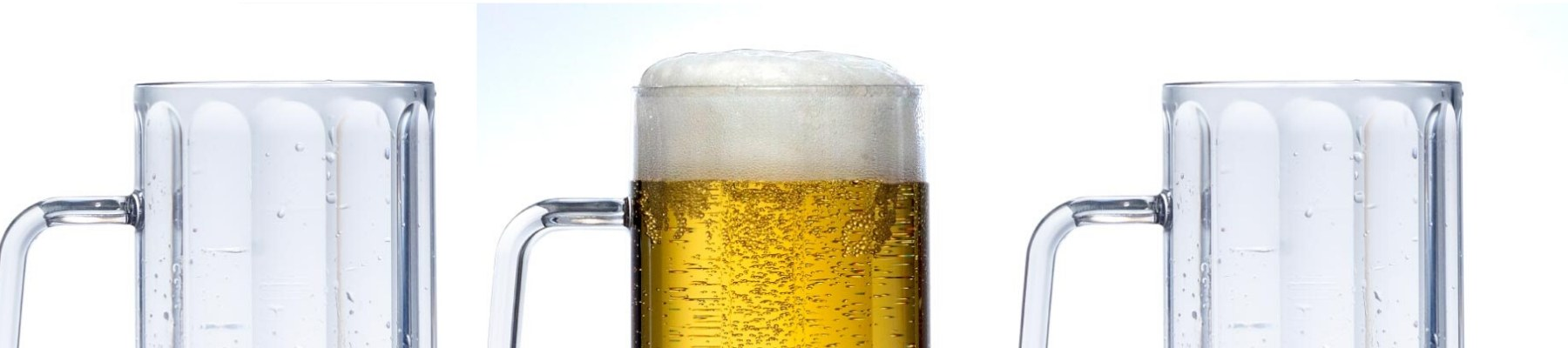 Plastic beer mugs pints