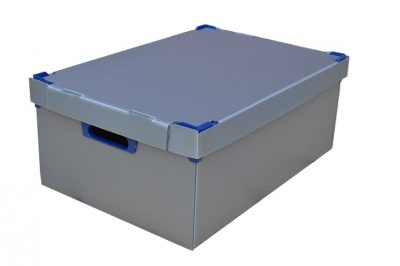 2. Correx Stacking Storage Boxes | Pack of 1 | Medium | Height 195mm