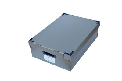1. Small Correx Stacking Storage Boxes, Pack of 1, Height 145mm