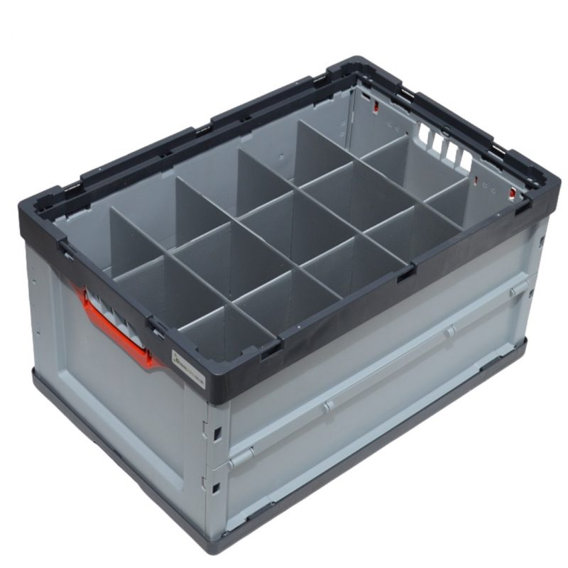 Auer Folding Glass Storage Crate 15 Cells