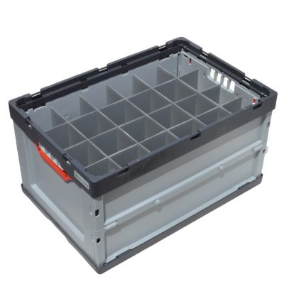 Container Auer Euro Folding Crate with Dividers 15 cells