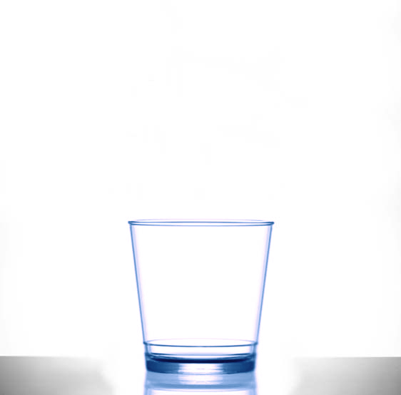 Plastic Glasses 9oz Rocks In2stax Clear Blue - Pack of 12