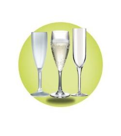 Elite Plastic Champagne Flutes