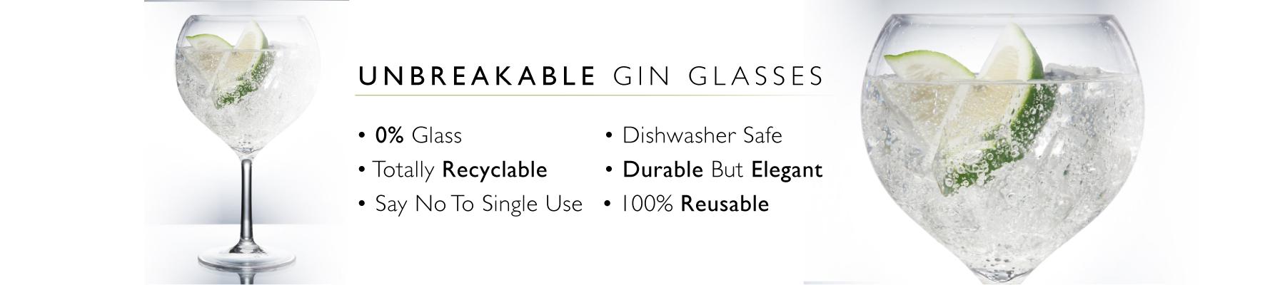 reusable plastic gin glasses