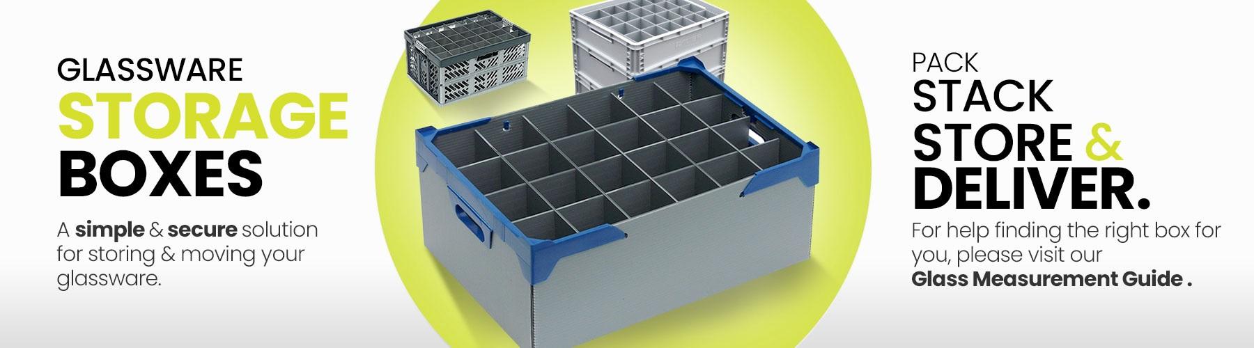 Glassjacks - Glassware Storage Boxes Crates Containers